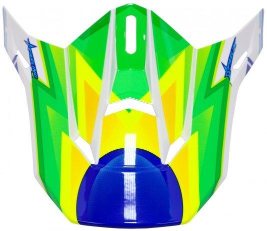 Pala Sobressalente para Capacete HUPI DH-3 Branco/Azul