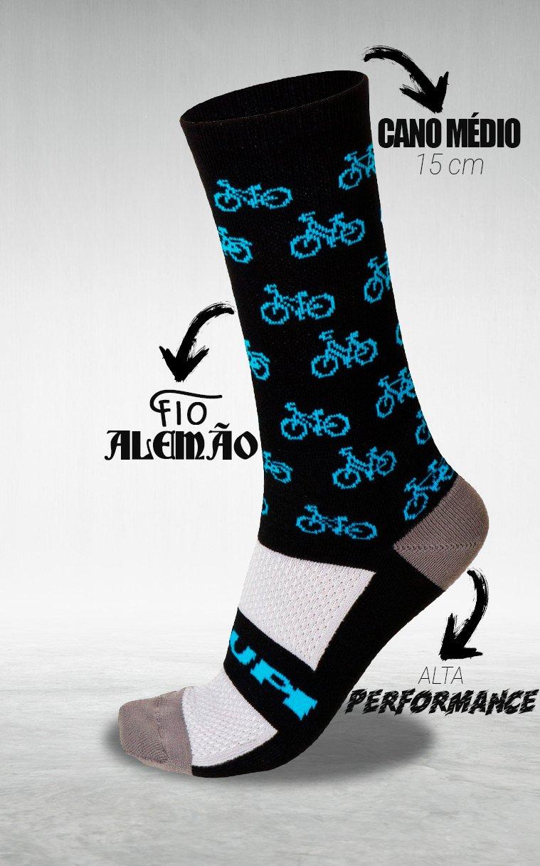 Meia HUPI Bike Blue