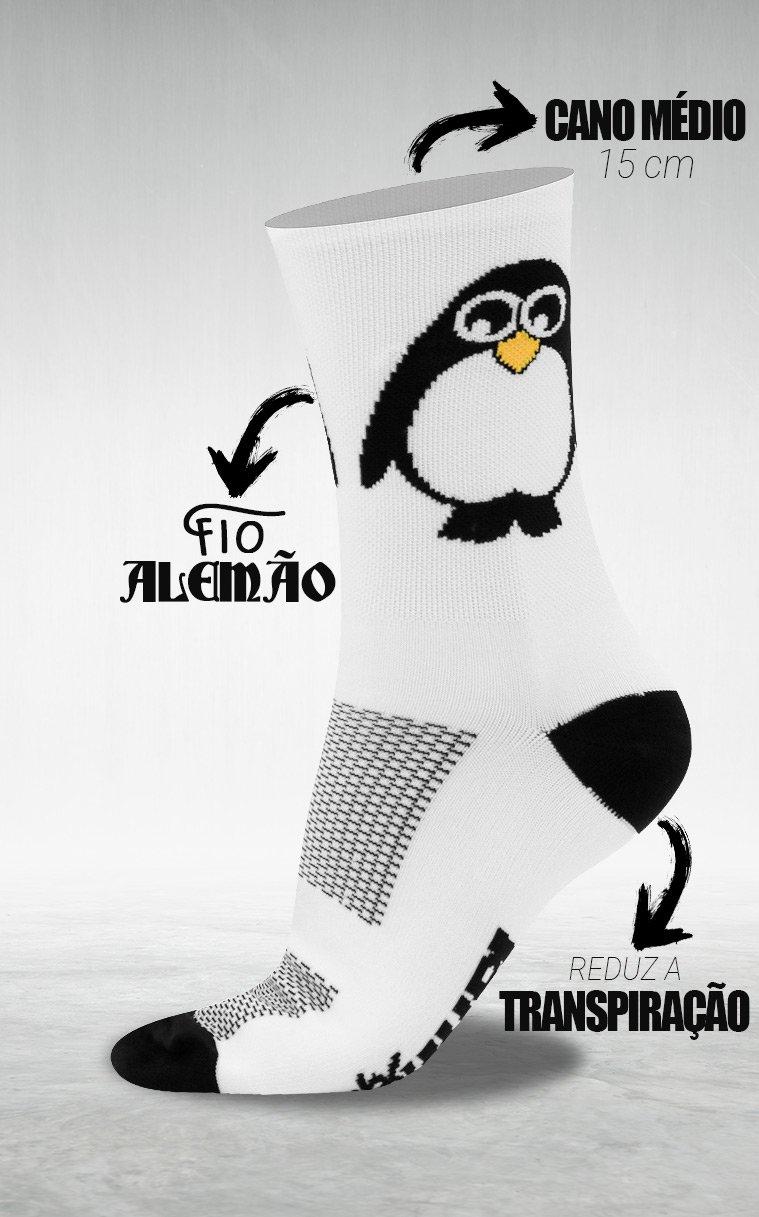 Meia HUPI Pinguim