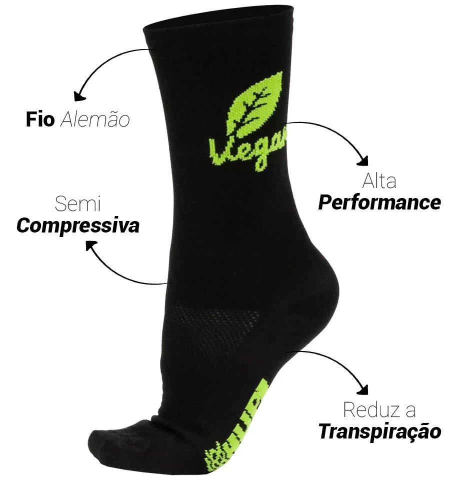 Meia HUPI Vegan - LT para pés menores 34-38