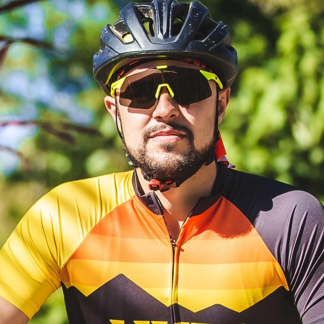 Óculos de Sol  HUPI Angliru Amarelo Neon/Preto - Lente Preto