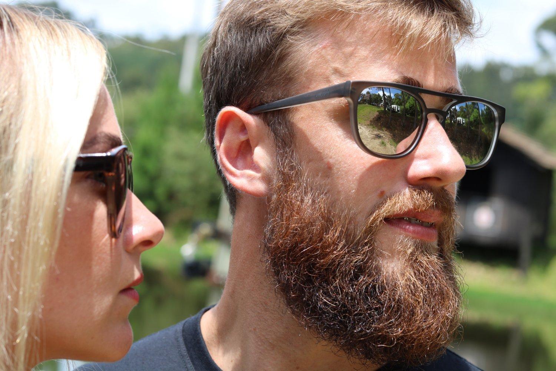 Óculos de Sol HUPI Bondi Claro Fosco - Lente Prata Espelhado