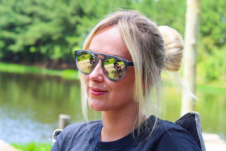 Óculos de Sol HUPI Furka Cinza Cristal - Lente Prata Espelhado - para rostos GRANDES