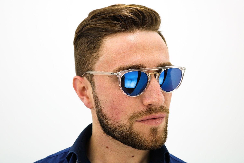 Óculos de Sol HUPI Ibiza Cristal – Lente Azul Espelhado