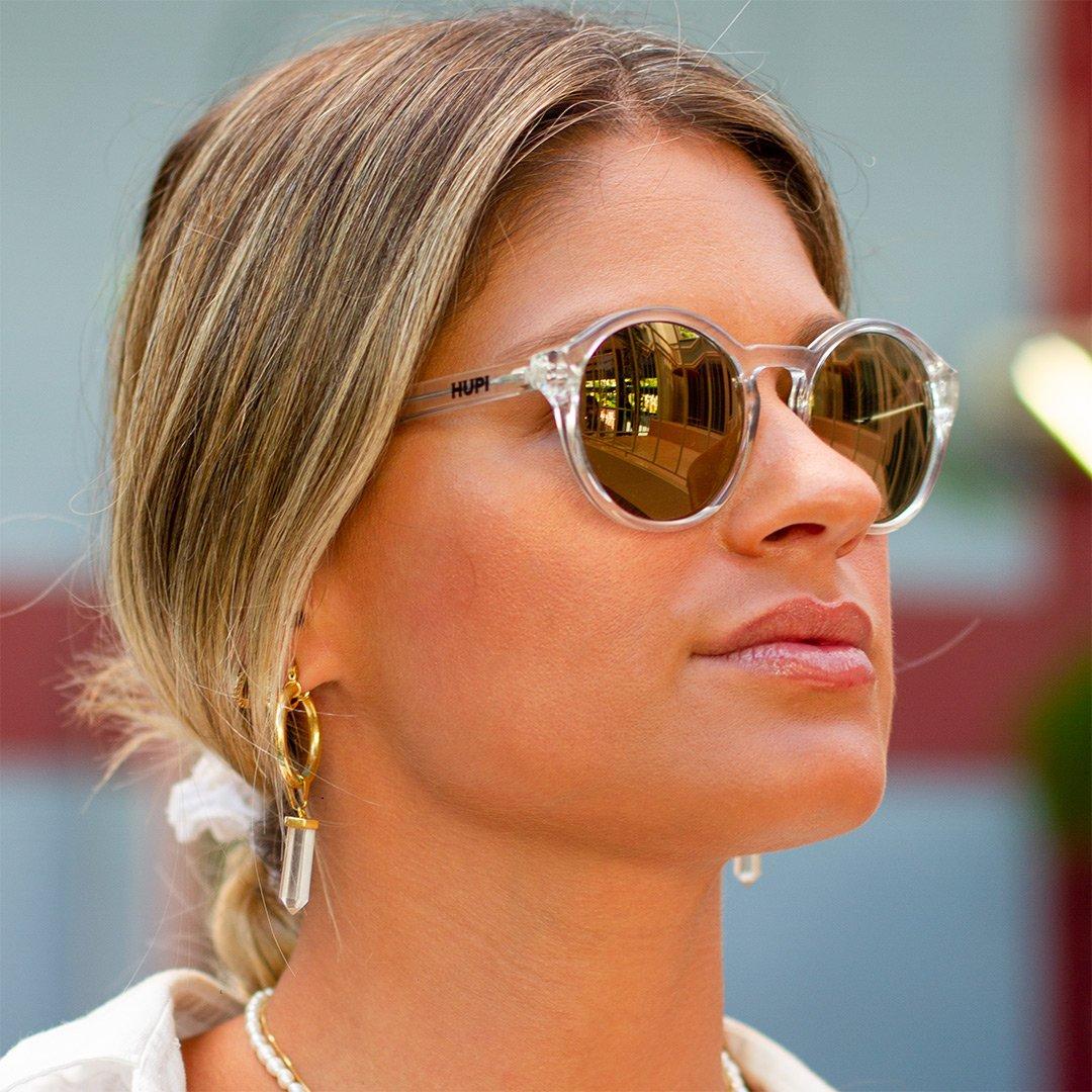 Óculos de SolHUPI KONA Cristal Brilho- Lente Dourada