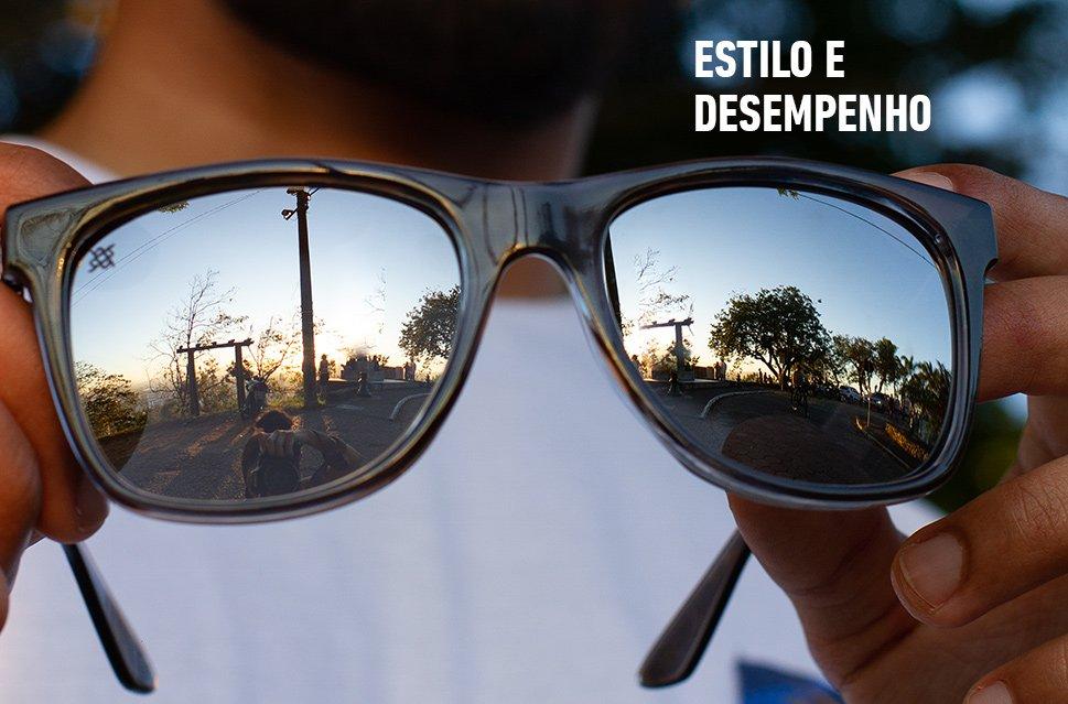 Óculos de Sol HUPI Luppa Armação Cinza Cristal Lente Prata - para rostos GRANDES