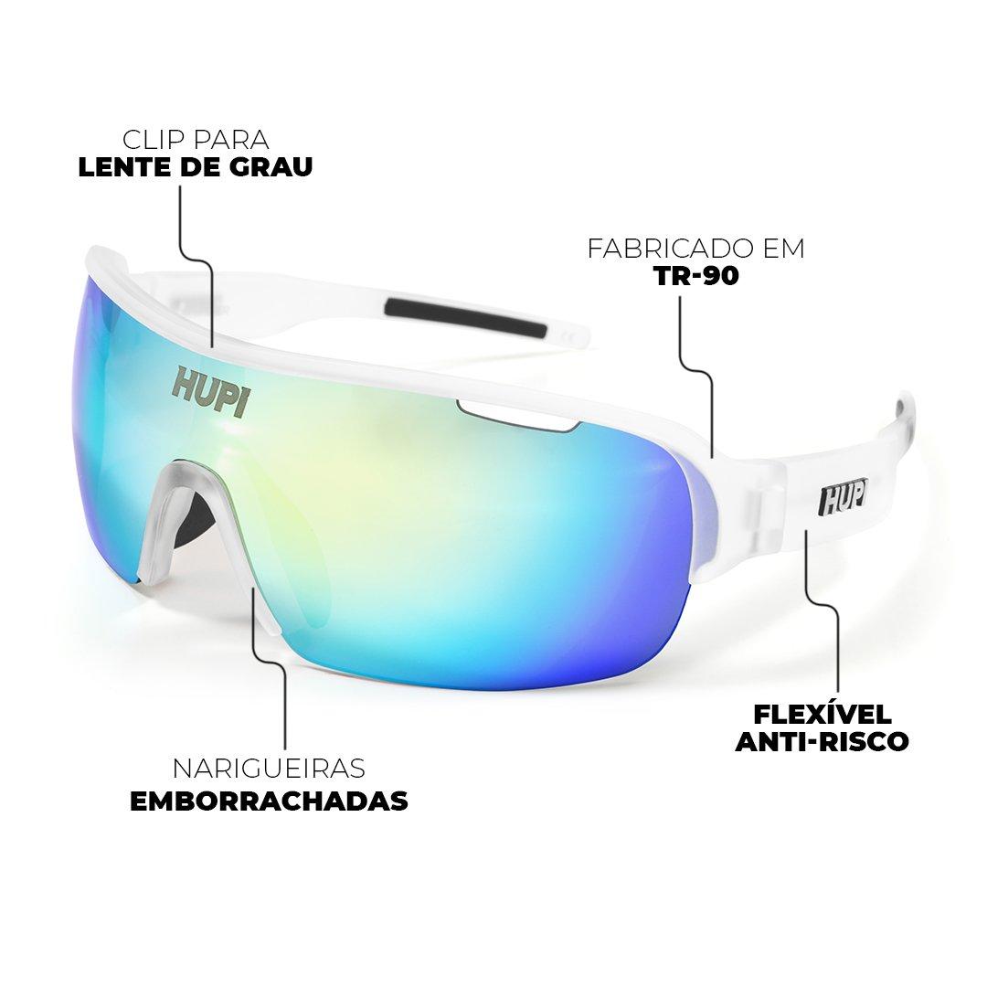 Óculos de Sol  HUPI Pacer Cristal/Preto - Clip Para Lentes De Grau