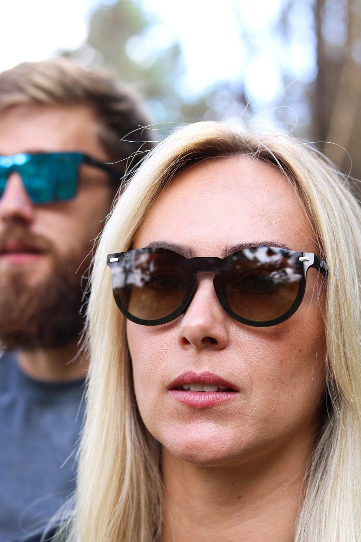Óculos de SolHUPITulum Preto - Lente Marrom Espelhado