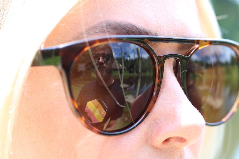 Óculos de Sol HUPI Furka Tartaruga– Lente Marrom - para rostos GRANDES