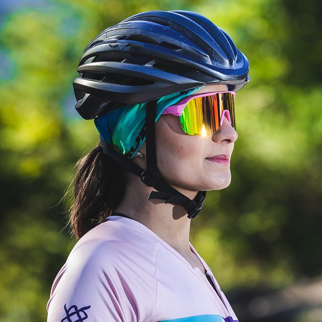 Óculos de Sol  HUPI Huez Rosa/Preto - Lente Rosa Espelhado