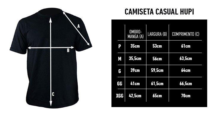 Camiseta Casual HUPI Run Preto