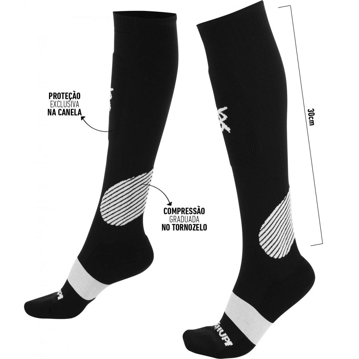 Meia CrossFit HUPI Proteção Extra - Laranja