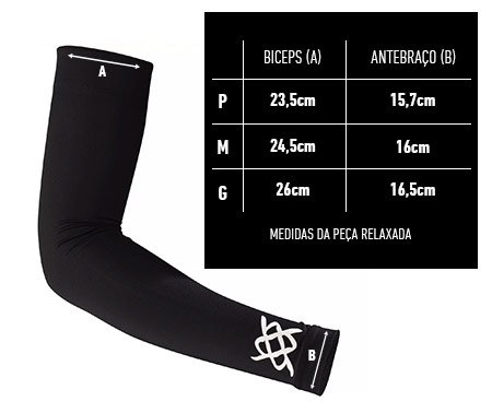 Manguito HUPI Biometria Alaranjado Proteção UV50+