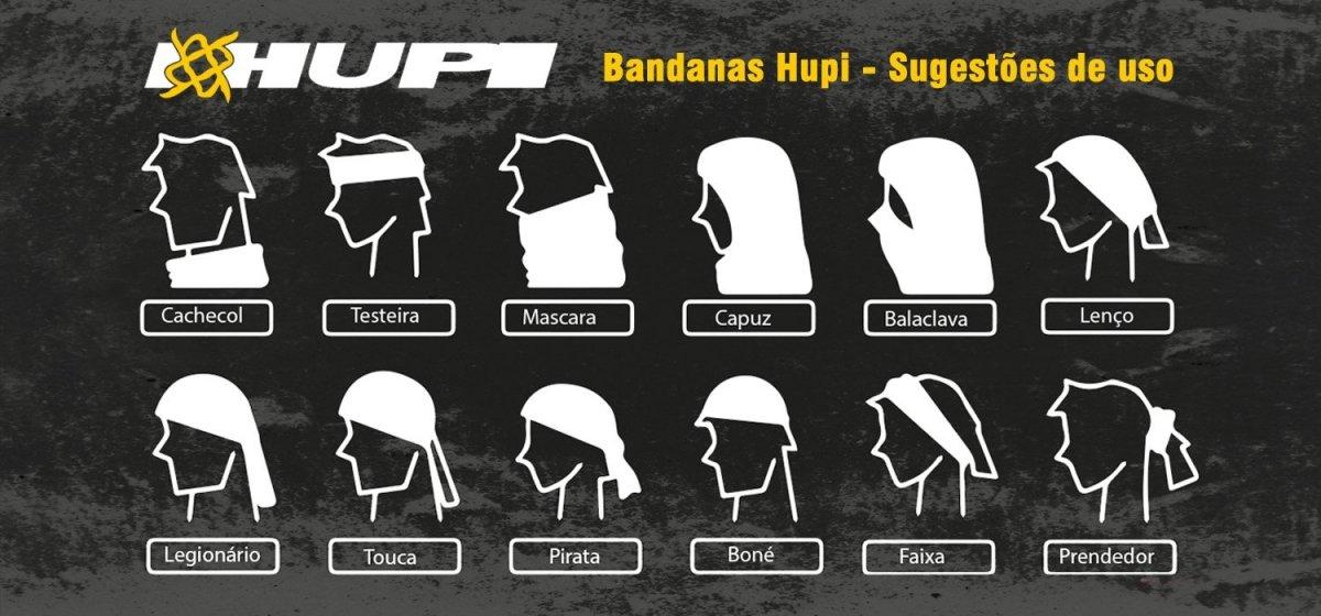 Bandana HUPI - Preto Cubes