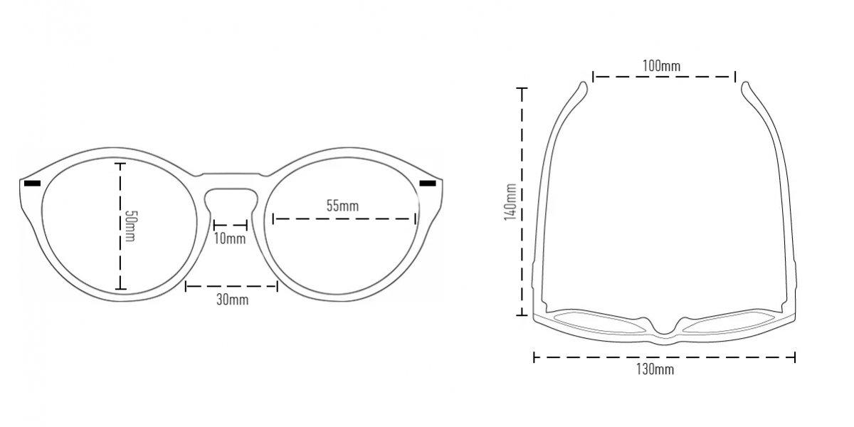 Óculos de SolHUPITulum Preto - Lente Roxo Espelhado