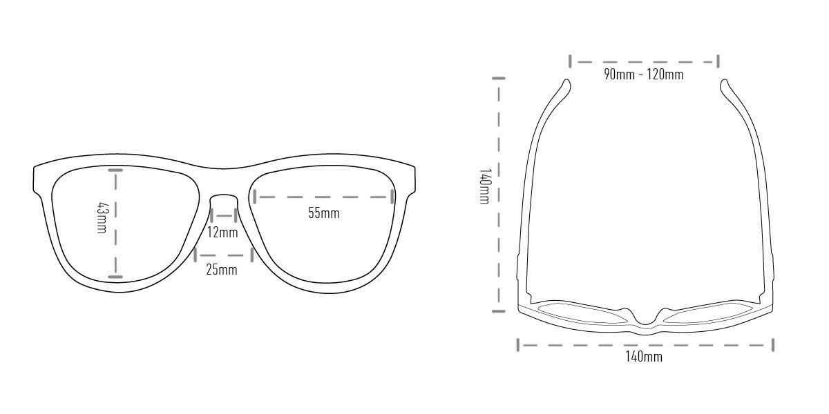 Óculos de Sol HUPI Brile Armação Preto/Azul Lente Azul Espellhado