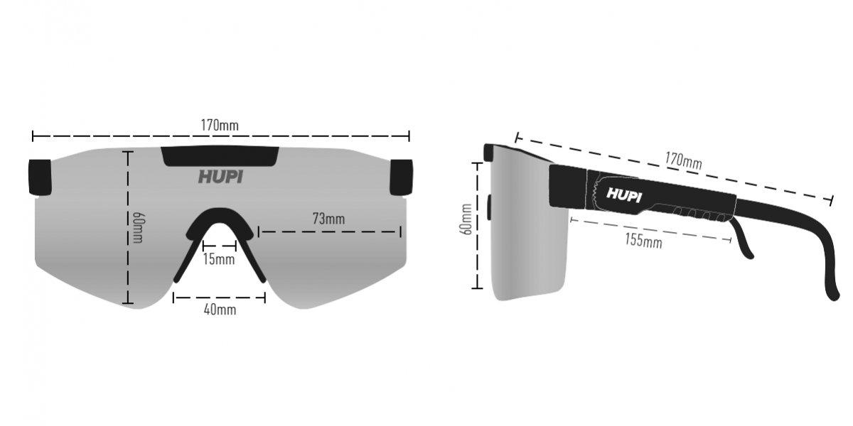 Óculos de Sol  HUPI Maverick Branco/Preto - Lente Roxo Espelhado