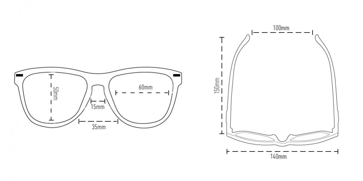 Óculos de Sol Navajio Preto- Lente Laranja Espelhado