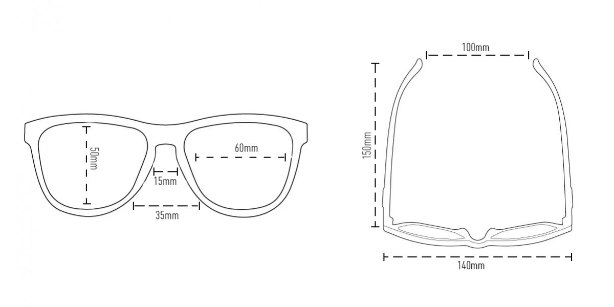 Óculos de Sol HUPI Charco Preto - Lente Cinza Espelhado