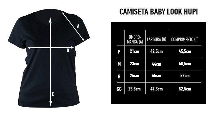 Camiseta Casual HUPI Run Preta Baby Look