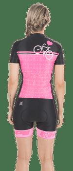 Macaquinho Ciclismo HUPI Rosa Love Bike
