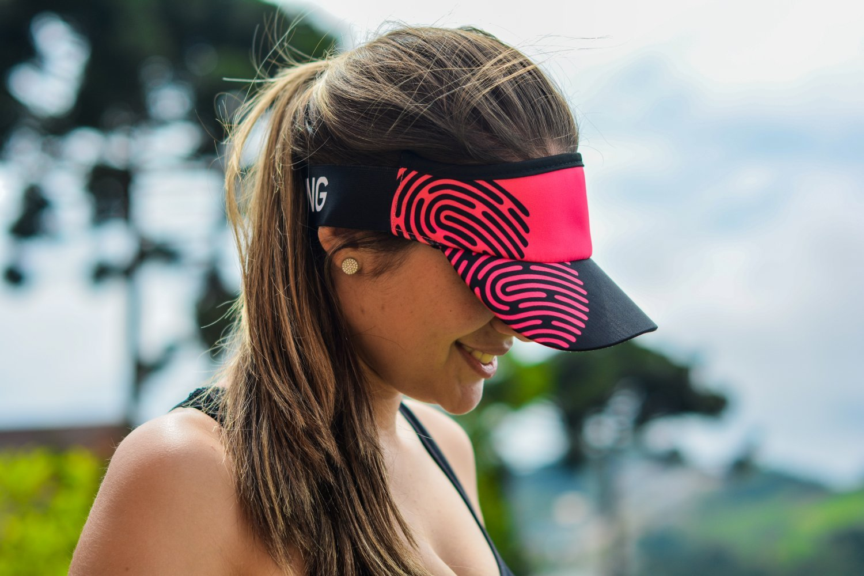 Viseira para Corrida HUPI Biometria Rosa