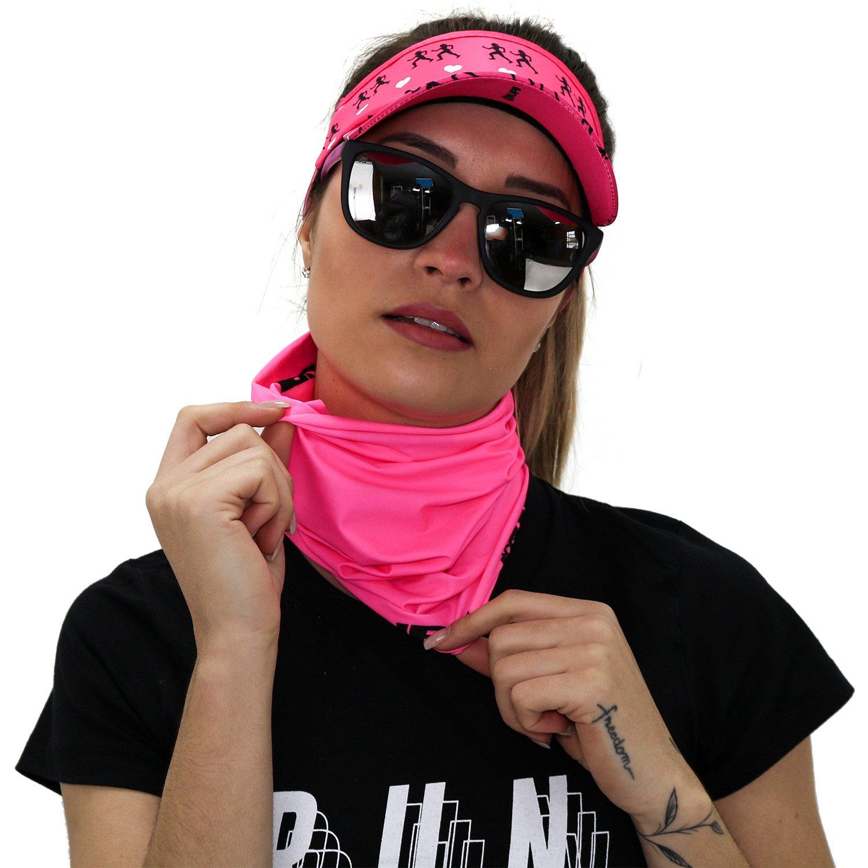 Viseira para Corrida HUPI Love Run Rosa