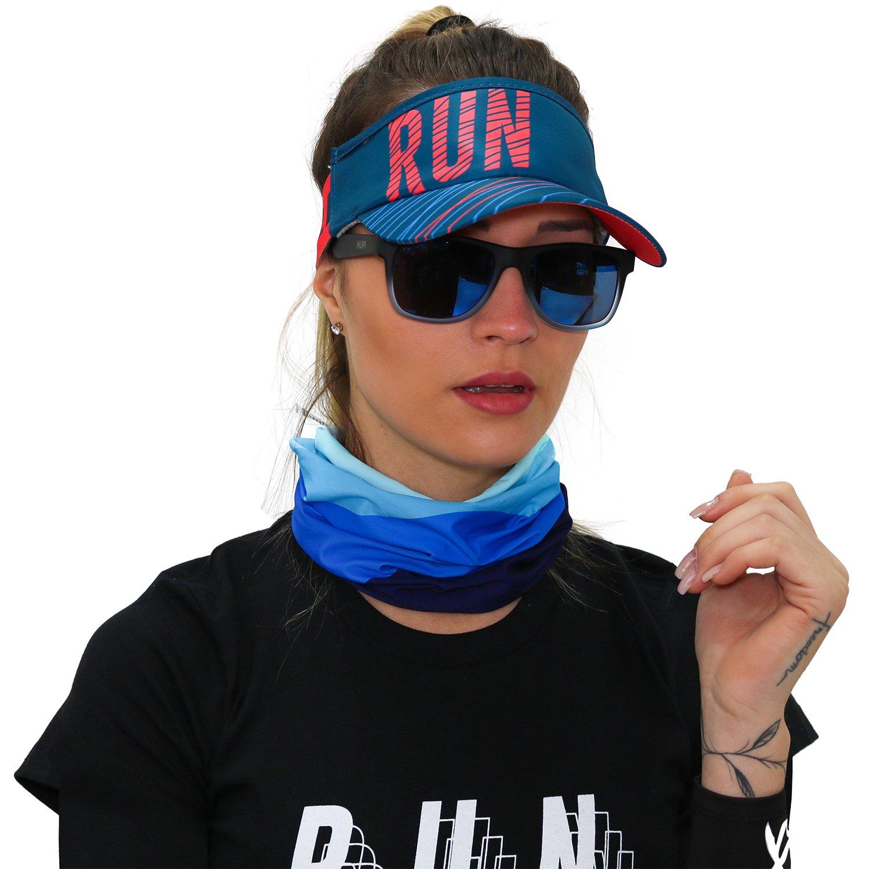 Viseira para Corrida HUPI Run Lines Azul