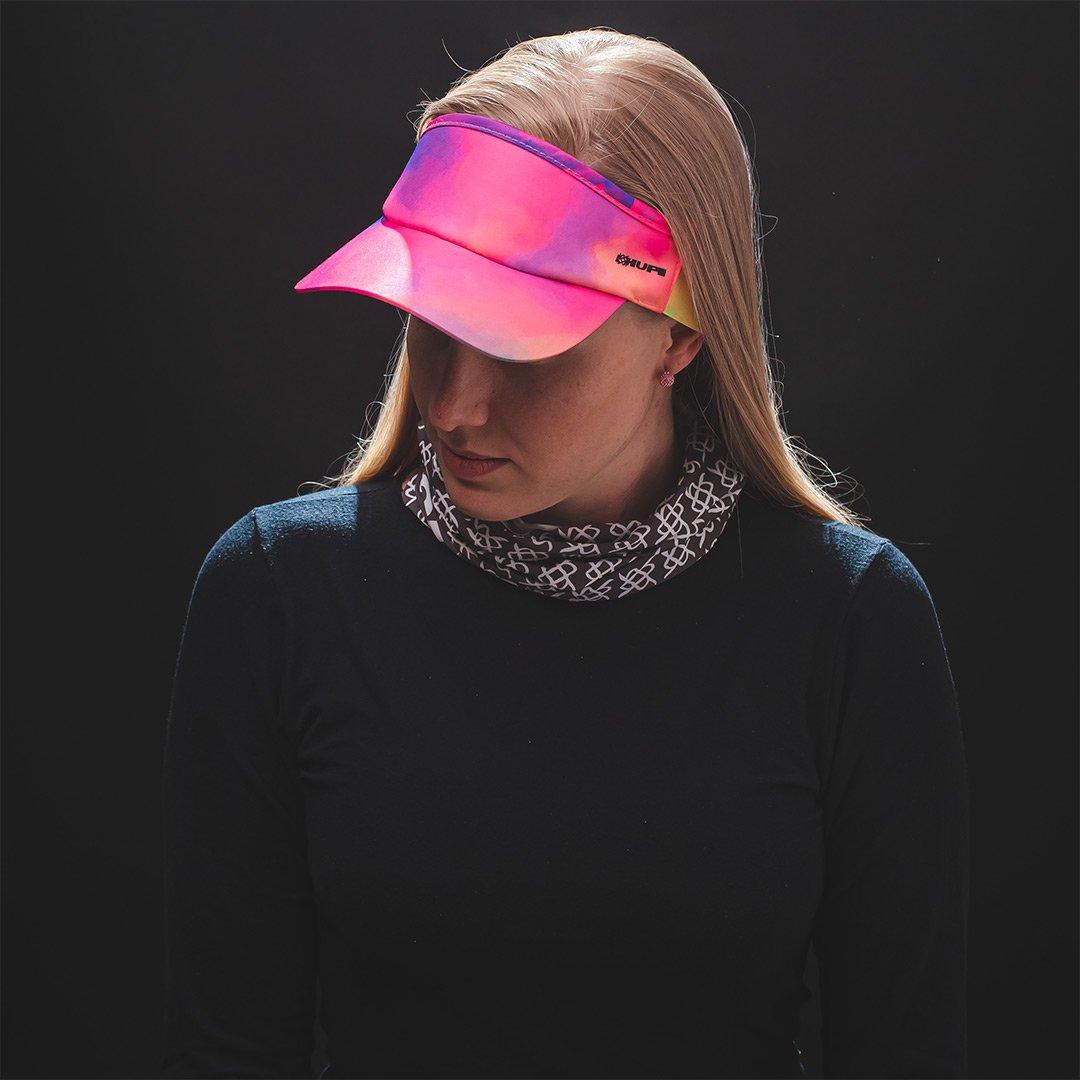 Viseira para Corrida HUPI Tie-Dye Rosa/Roxo